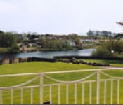 Balcony view over River Laune Killorglin Riverbank Lodges KIllorglin Kerry