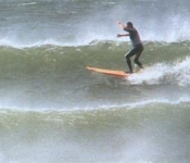 Surfing at Rossbeigh Beach near Killorglin,Kerry